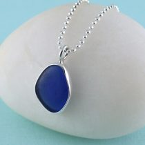 #1 Sweet Cobalt Blue Sea Glass Mini Pendant