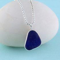 #3 Sweet Cobalt Blue Sea Glass Mini Pendant