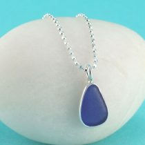 #1 Sweet Cobalt Blue Sea Glass Mini Pendant