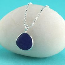 #2 Sweet Cobalt Blue Sea Glass Mini Pendant