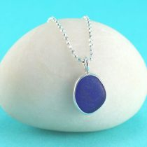 #3 Sweet Cobalt Blue Sea Glass Mini Pendant