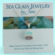 Soft Colors Sea Glass Stack Pendant