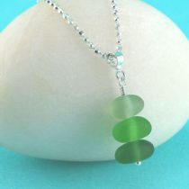 Forest Colors Sea Glass Stack Pendant