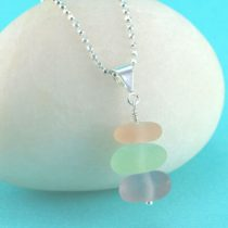 Sea Glass Stack of Pastels Pendant