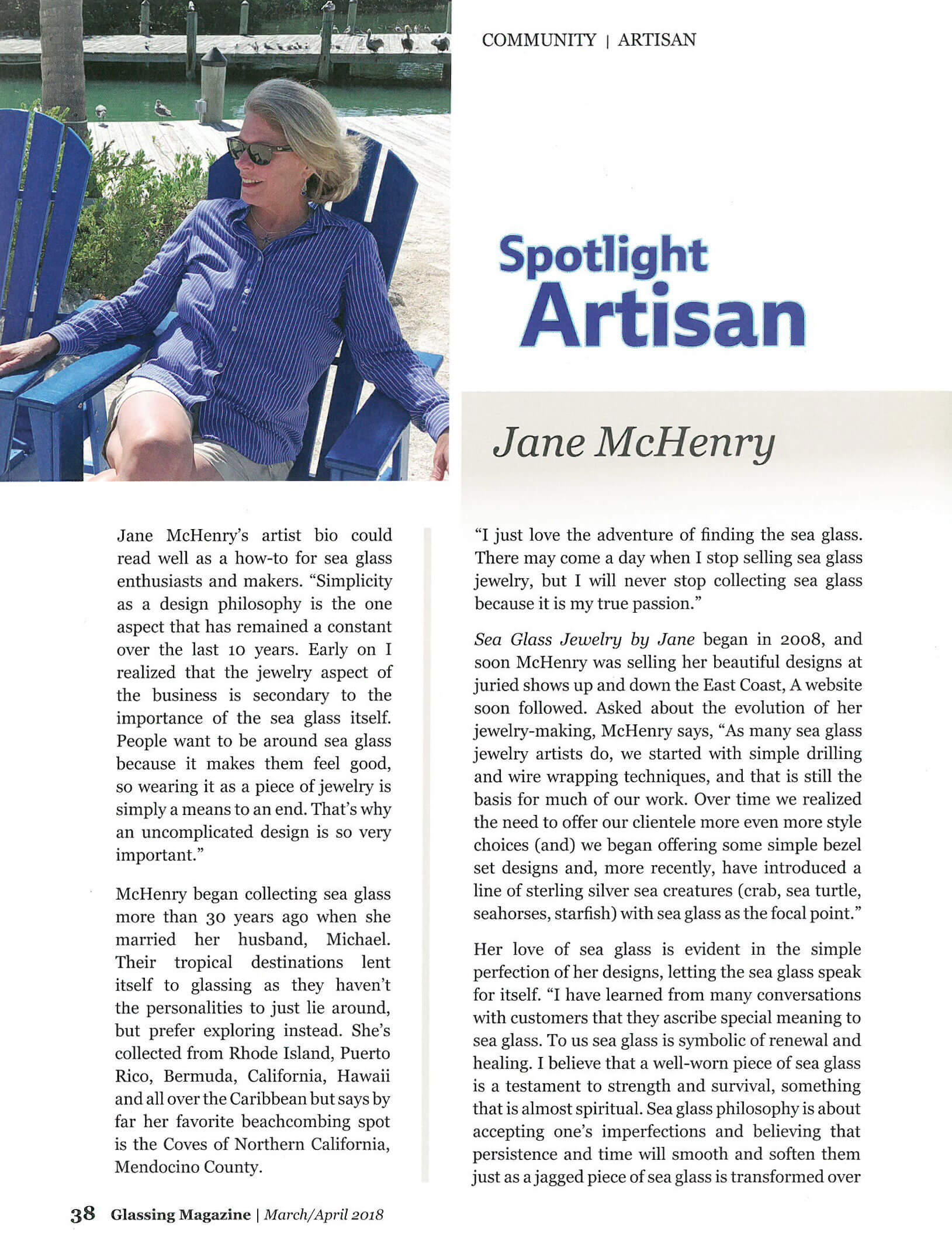 Jane McHenry Artist Spotlight Glassing Magazine