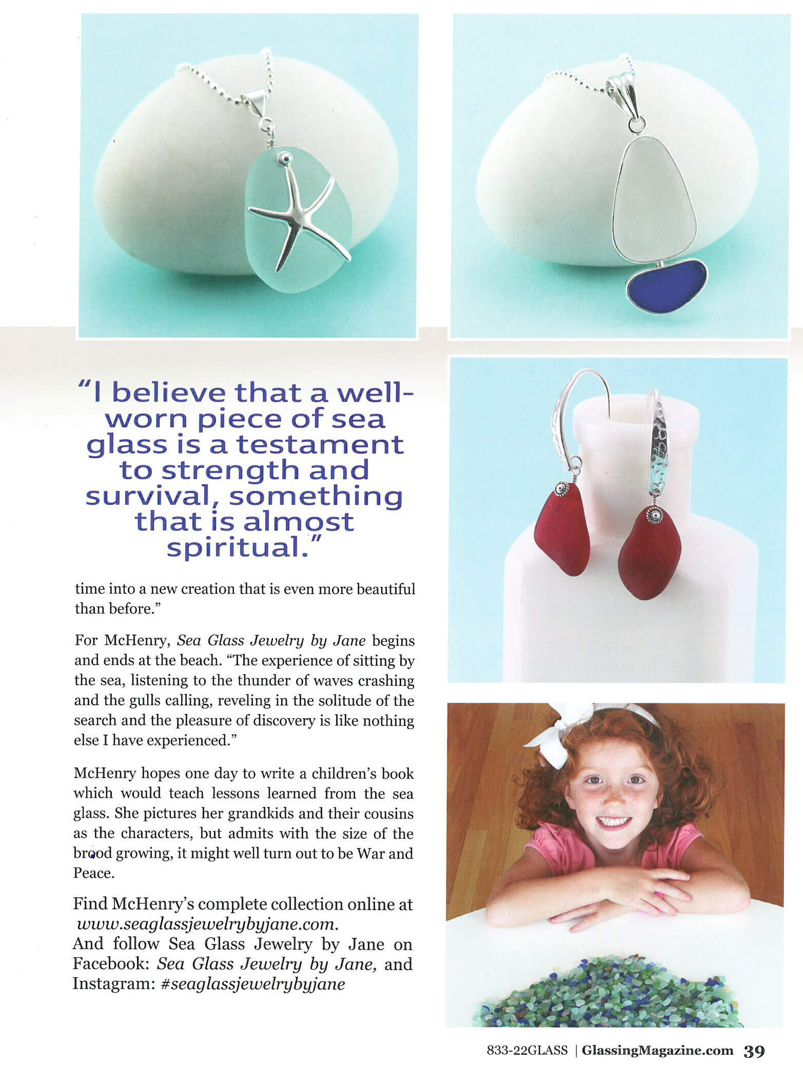 Jane McHenry Spotlight Artist Glassing Magazine Page 2