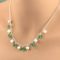 Sea Glass & Freshwater Pearl Necklace