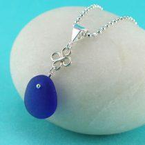 Small Perfect Shape Cobalt Blue Pendant