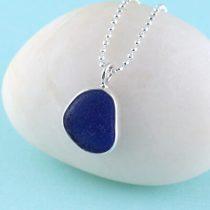 #2 Sweet Cobalt Blue Mini Sea Glass Pendant