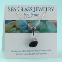Beautiful Blue & White Sea Glass Multi Pendant