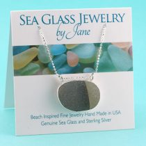 Shades of Gray Sea Glass Pendant