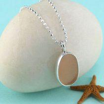 Small Pink Sea Glass Pendant