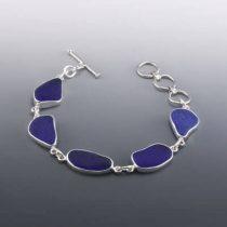 Stunning Cobalt Blue Sea Glass Bracelet