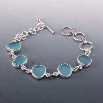 Deep Aqua Sea Glass Bracelet