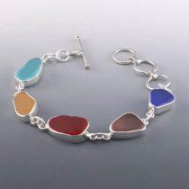 Pretty Colors Sea Glass Bracelet