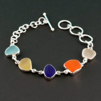 Five Pretty Colors Sea Glass Bracelet