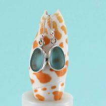 Deep Aqua Sea Glass Earrings