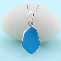 Terrific Turquoise Sea Glass Pendant