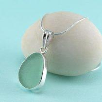 Ocean Green Sea Glass Pendant