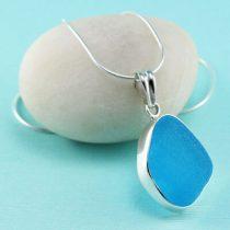 Terrific Turquoise Sea Glass Pendant