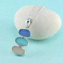 Three Pastels Sea Glass Pendant