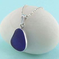Pretty Cobalt Blue Sea Glass Pendant