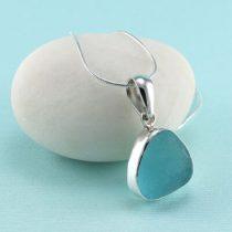 Alluring Aqua Sea Glass Pendant