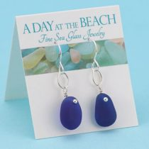 Elegant Cobalt Blue Sea Glass Earrings