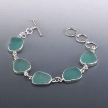 Astounding Aqua Teal Sea Glass Bracelet