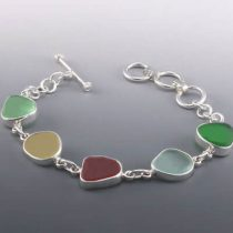 Many Colors Sea Glass Bracelet