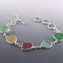 Many Colors Sea Glass Bracelet