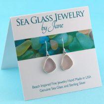 Luscious Lavender Sea Glass Earrings