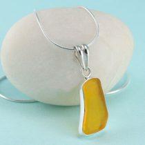 Yellow Sea Glass Pendant