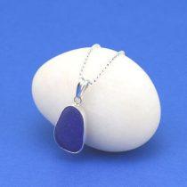 Blissful Blue Sea Glass Pendant