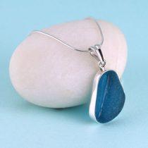 Trendy Turquoise Sea Glass Pendant