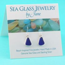 Cobalt Blue Sea Glass Triangles