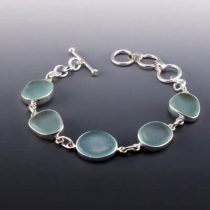 Pretty Pale Aqua Sea Glass Bracelet