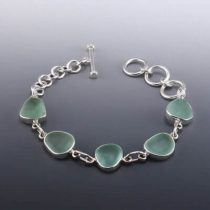 Sassy Sea Foam Sea Glass Bracelet