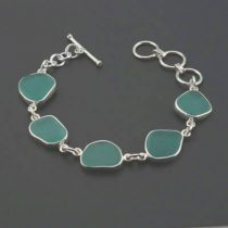 Terrific Teal Aqua Sea Glass Bracelet