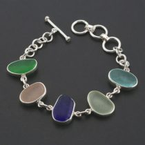 Five Glorious Colors Sea Glass Bracelet