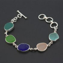 Medley of Colors Sea Glass Bracelet