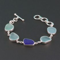 Ocean and Sky Sea Glass Bracelet