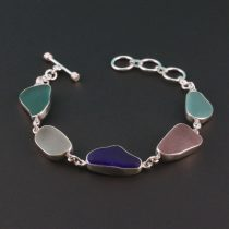 Glorious Colors Sea Glass Bracelet