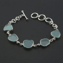 Sky Blue Sea Glass Bracelet