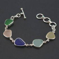 Potpourri of Colors Sea Glass Bracelet
