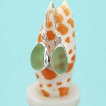Groovy UV Green Sea Glass Earrings
