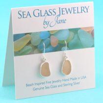 Perfect Pink Sea Glass Earrings