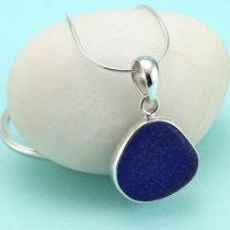 Perfect Cobalt Blue Sea Glass Pendant