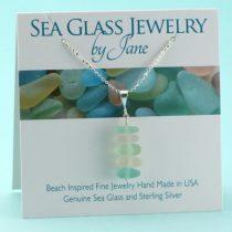 Five Piece Sea Glass Stack Pendant