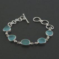 Dramatic Aqua Sea Glass Bracelet